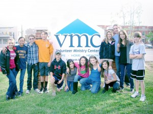 Students volunteering at VMC